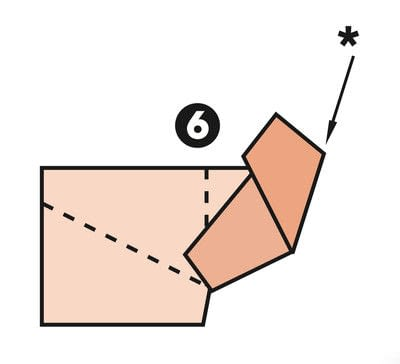How to make a papercraft. M Fold - Step 6