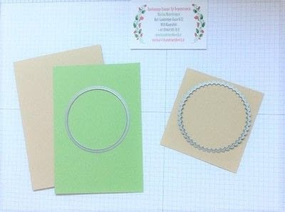 How to make a 3D greetings card. Spinner Card - Step 1