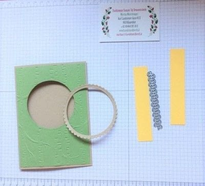 How to make a 3D greetings card. Spinner Card - Step 2