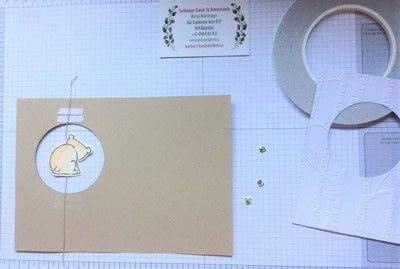 How to make a 3D greetings card. Spinner Card - Step 5