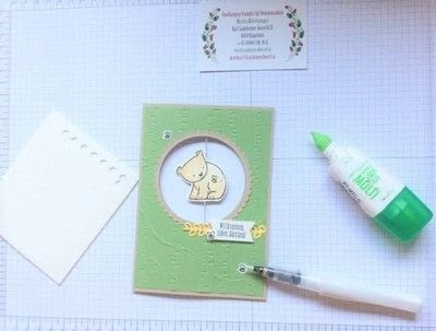 How to make a 3D greetings card. Spinner Card - Step 7