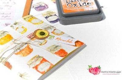 How to make a journal. Mini Recipe Booklet - Step 2