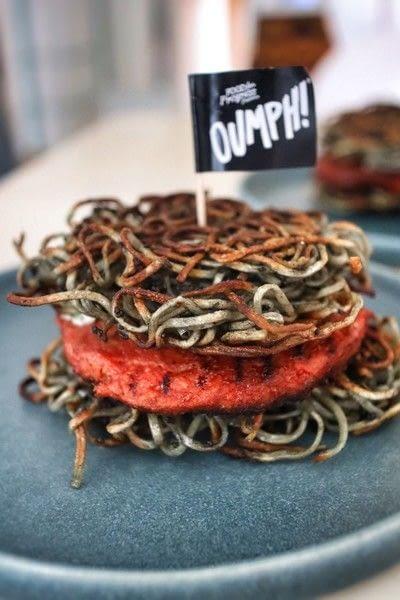 How to cook a veggie burger. Vegan Ramen Oumph! Burgers - Step 14