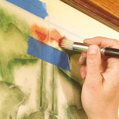 How to stencil a stenciled artwork. Simple Stenciling - Step 5
