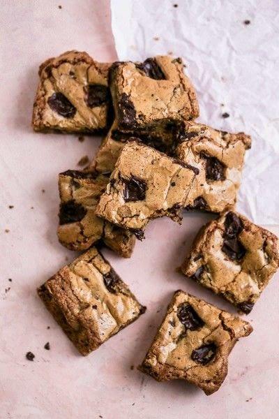 How to bake a brownie. Coffee Chocolate Chip Blondies - Step 4