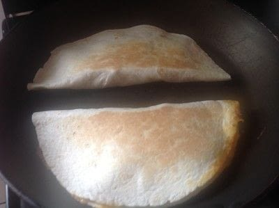How to cook a chicken dish. Cheesy Chicken Quesadilla  - Step 4