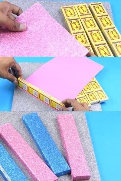 How to make a wall decal. How To Make A Beautiful Wall Hanging From Matchbox? - Step 2