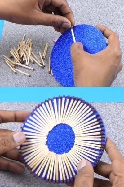How to make a wall decal. How To Make A Beautiful Wall Hanging From Matchbox? - Step 5