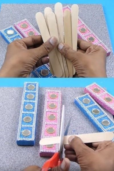 How to make a wall decal. How To Make A Beautiful Wall Hanging From Matchbox? - Step 6