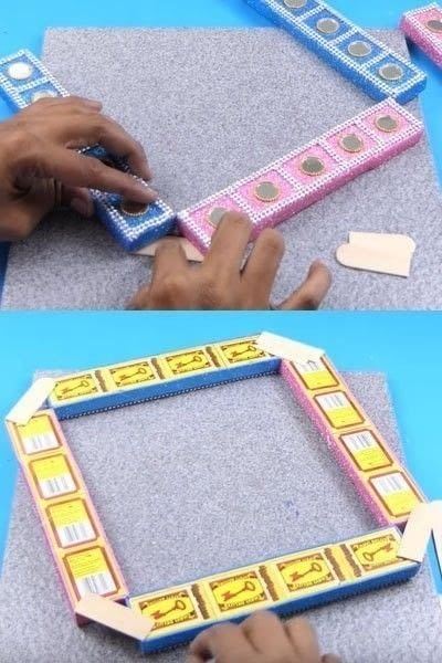 How to make a wall decal. How To Make A Beautiful Wall Hanging From Matchbox? - Step 7