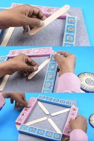 How to make a wall decal. How To Make A Beautiful Wall Hanging From Matchbox? - Step 8