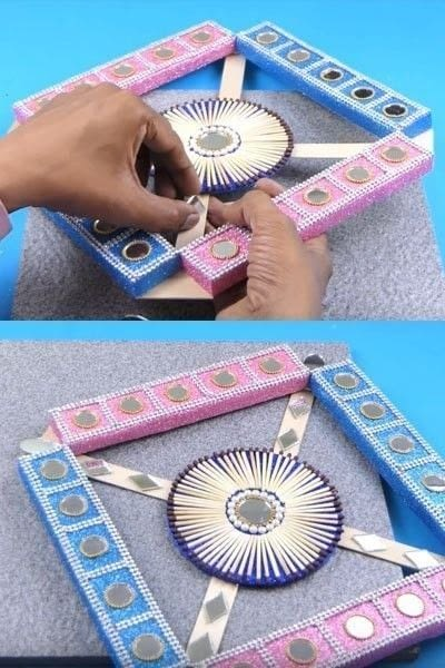 How to make a wall decal. How To Make A Beautiful Wall Hanging From Matchbox? - Step 10
