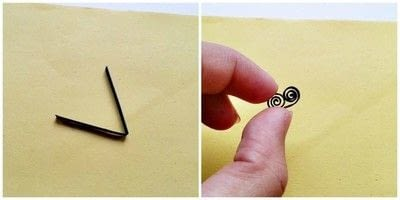 How to make a pendant necklace. Diy Paper Quilling Pendant - Step 2