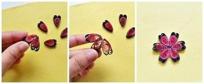How to make a pendant necklace. Diy Paper Quilling Pendant - Step 5