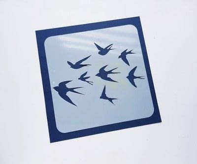 How to paint a stencilled painting. Create Colorful Bird Stencil Art - Step 1