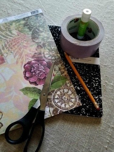 How to make a notebook journal. Diy Writer's Notebook - Step 1