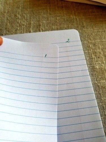 How to make a notebook journal. Diy Writer's Notebook - Step 5