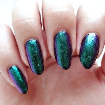 How to paint a glitter nail. Emerald Expression - Step 2