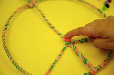 How to make a bunting / garland. Festival Peace Garland - Step 7