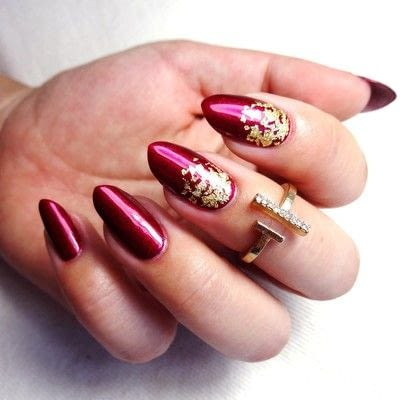 How to paint a nail painting. Madame Rouge - Step 2
