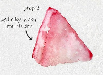 How to paint a piece of watercolor art. Melon Watercolor Tutorial - Step 2