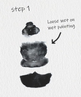How to paint a piece of watercolor art. Bee Watercolor Tutorial - Step 1