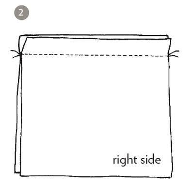 How to make a stitch. Tongsol Stitch - Step 2