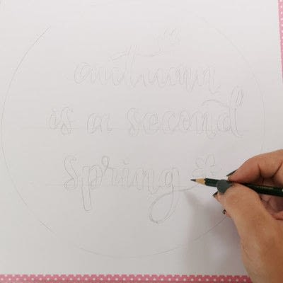 How to make a framed decoration. Hand Lettering Wall Decoration - Step 3