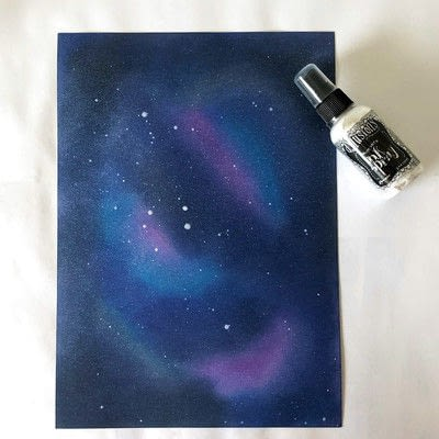 How to cut a piece of papercutting. Galaxy Card Shine Like A Star - Step 2