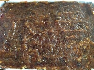 How to bake a bar / slice. Date & Oat Bars - Step 4