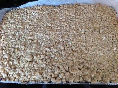 How to bake a bar / slice. Date & Oat Bars - Step 6