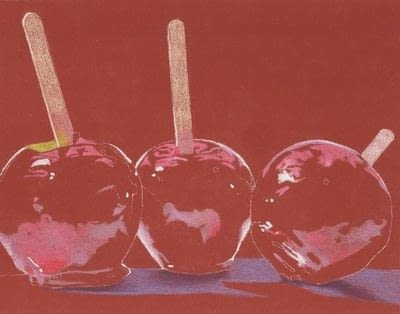 How to create a drawing or painting. Toffee Apples Drawing - Step 2