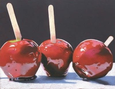 How to create a drawing or painting. Toffee Apples Drawing - Step 5