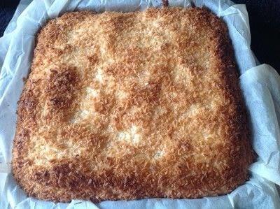 How to bake a bar / slice. Black Bottom Coconut Bars - Step 9