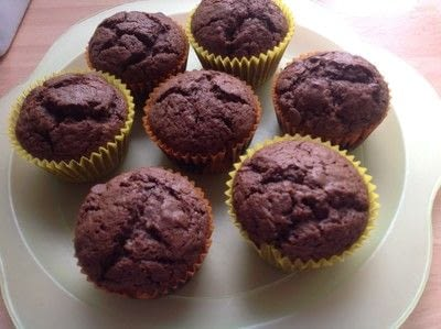 How to bake a chocolate chip muffin. Double Chocolate Muffins  - Step 8