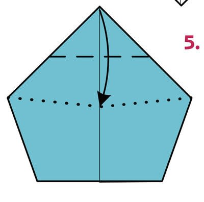 How to fold origami. Origami Wizard - Step 5