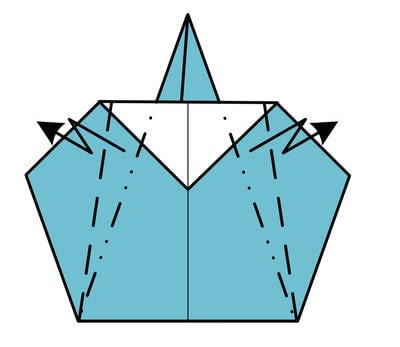 How to fold origami. Origami Wizard - Step 6
