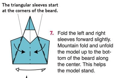 How to fold origami. Origami Wizard - Step 7
