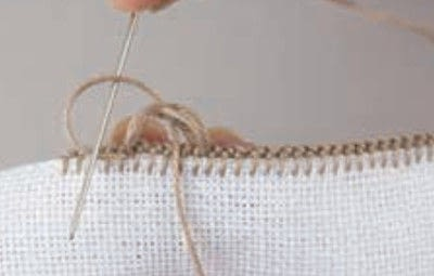 How to stitch . Buttonhole Scallop - Step 6