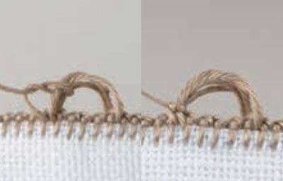 How to stitch . Buttonhole Scallop - Step 7