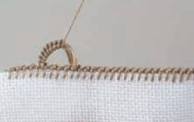How to stitch . Buttonhole Scallop - Step 8