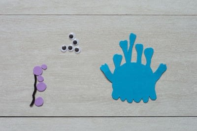 How to make a magnet. Foam Monster Magnets - Step 1