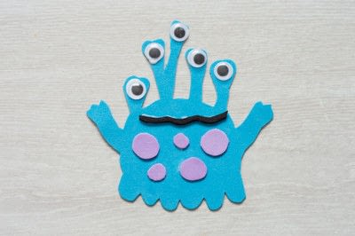 How to make a magnet. Foam Monster Magnets - Step 2