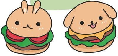 How to create a drawing or painting. How To Draw Really Cute Hamburgers - Step 3