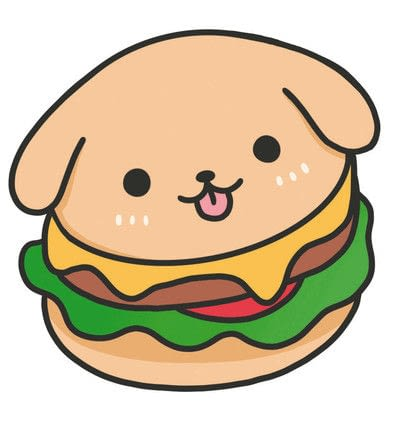 How to create a drawing or painting. How To Draw Really Cute Hamburgers - Step 5
