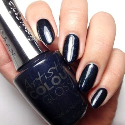 How to paint a nail painting. Sapphire Scales - Step 1
