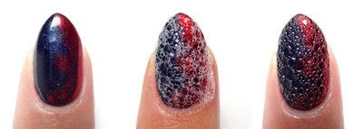 How to paint a nail painting. Sapphire Scales - Step 4