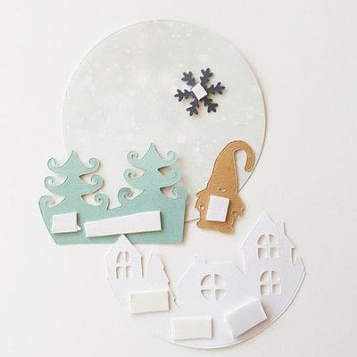 How to make a Christmas decoration. Unique Christmas Greetings With This 3 D Christmas Card - Step 4
