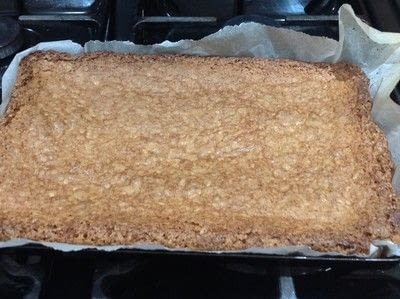 How to bake a bar / slice. Chewy Coconut Bars - Step 7