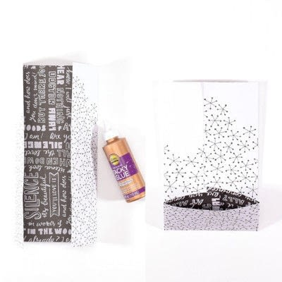 How to make gift wrap. Wine Tastic Gift Wrap - Step 2